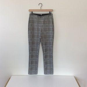H&M Slim-fit Grey Plaid Pants